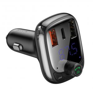Baseus S-13 T-Type Bluetooth FM Transmitter Car Charger