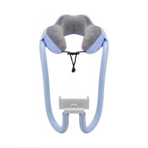Mobie U-Shaped Travel Pillow with Hands-Free Phone Holder
