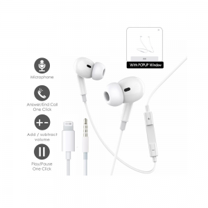 Lightning Headset for Apple with In-Earbuds