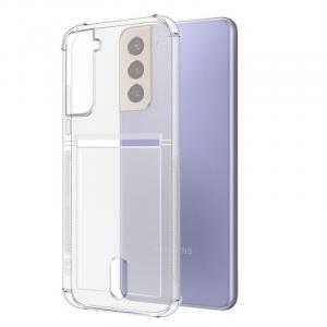 """CASEPLAY Samsung S21 Plus 6.7"""" Card Pocket Classic Clear Case"""