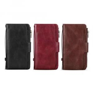 """JDK iPhone 12 Mini 5.4"""" Genuine Leather Wallet Carrying Phone Case"""