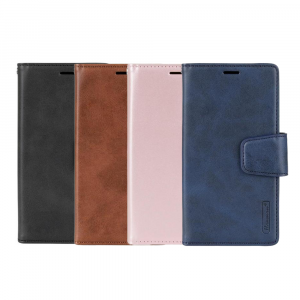 """Hanman Samsung Galaxy S21 6.2"""" Leather Wallet Flip Case With Magnetic Back"""